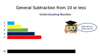 Dyslexia Friendly - Subtraction from 10 or less - Understanding Number