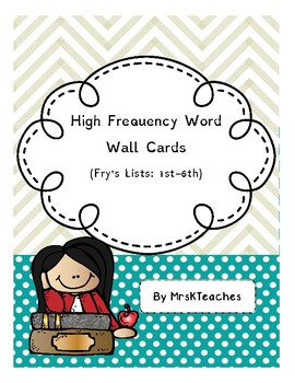 Dyslexia Friendly Word Wall *** Dolch Sight Words ***