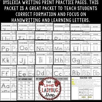 Dyslexia Handwriting Practice