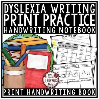 Dyslexia Handwriting Practice- Manuscript Print Letter Writing