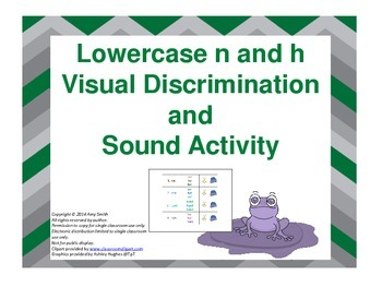 Dyslexia Intervention: Lowercase n and h Visual and Sound