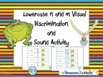 Dyslexia Intervention: Visual Discrimination for Letters m and n Activity
