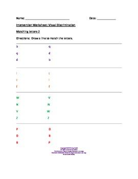 dyslexia intervention worksheets for visual discrimination tpt. Black Bedroom Furniture Sets. Home Design Ideas