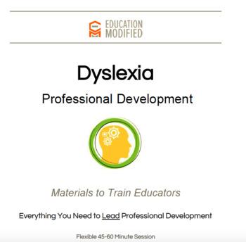 Dyslexia PD for Educators