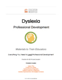 Dyslexia:  Professional Development for Educators (UPDATED 2018)