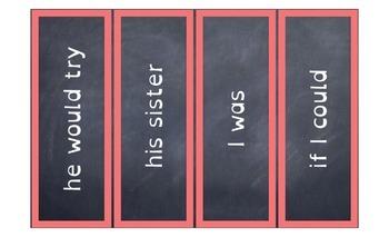 Dyslexia Rainbow Sight Word Phrases