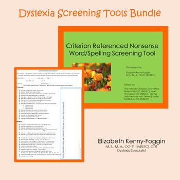 Dyslexia Screening Tools Bundle: District License