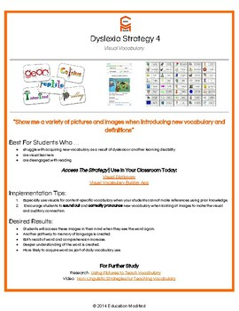 Dyslexia- Classroom Strategies