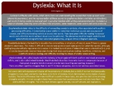 Dyslexia: What It Is