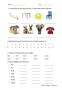 Dyslexia Worksheet 3