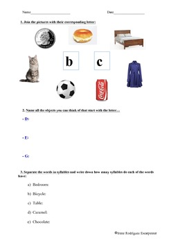 Dyslexia Worksheet 4