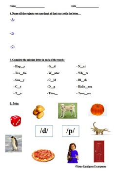 Dyslexia Worksheet for Primary School