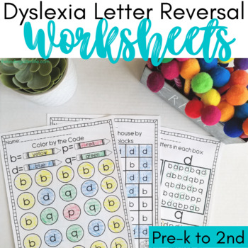 Worksheets Dyslexia Worksheets dyslexia worksheets help w by the crazy pre k classroom with bdp and q reversals