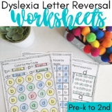 Dyslexia Worksheets for Letter Reversals