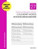 Dyslexia and Dysgraphia Collection: Calendar Words - Manuscript