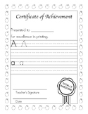 Dyslexia and Dysgraphia Collection: Certificates of Achievement - Manuscript