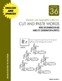 Dyslexia and Dysgraphia Collection: Cut and Paste Words - Manuscript