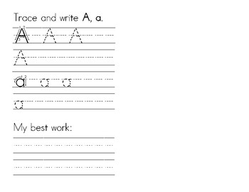 Dyslexia and Dysgraphia Collection: Letter Book - Manuscript