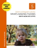 Dyslexia and Dysgraphia Collection: What's Missing Puzzles