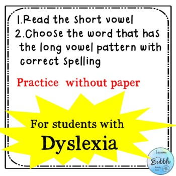 Dyslexia spelling work short vowel to long vowel Boom Cards #dollarsale