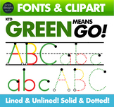 Dyslexic Font Assistance • Learning Disabilities • Green Means Go Font & Clipart