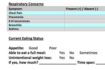Dysphagia Assessment Interview & Case History Form