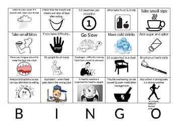 Dysphagia Bingo