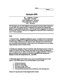 Dystopia 2050 Assignment (For Use With Orwell's 1984)