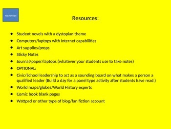 Dystopia: Critical Thinking and Problem Solving for Gifted and Talented
