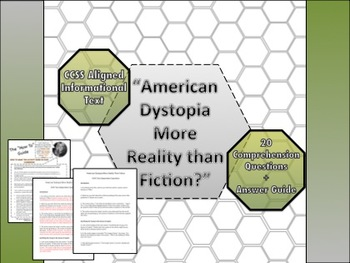 Dystopia Informational Text -Collaborative Activity - 20 Comp Questions w/ Key