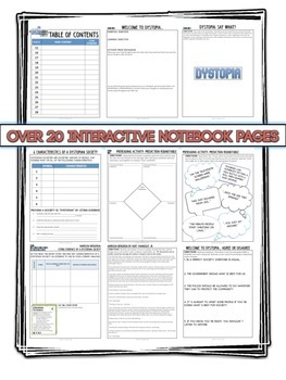 Dystopia Interactive Notebook Unit - Lesson, Activities, Short Story CCSS