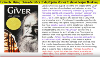 Dystopian Book Club Unit - Six Self Paced Video Lessons and Activities for MS