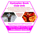 Dystopian Book Club Unit - Six Self Paced Video Lessons an