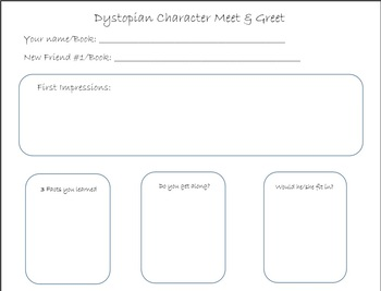 Dystopian Character Meet and Greet Lesson and Organizer Bundle