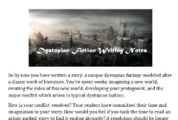 writing dystopian fiction