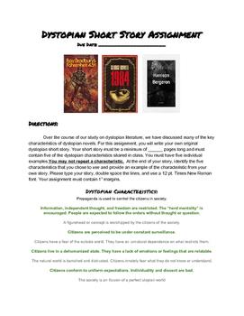Dystopian Literature Short Story Assignment, Creative Writ
