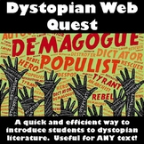 Dystopian Literature Web Quest!  Detailed Answer Key INCLUDED!