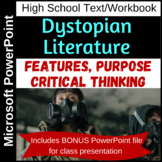 Features and purpose of dystopian literature