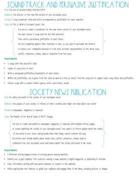 Dystopian Project RAFT: Differentiated Choices for Assessment