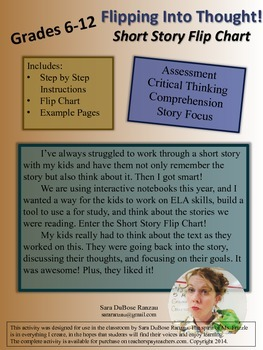 Flipping Into Thought! Short Story Flip Chart