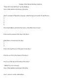Dystopian Short Story Reading Questions