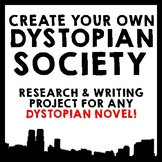 Dystopian Society Research & Essay Project - Use with ANY