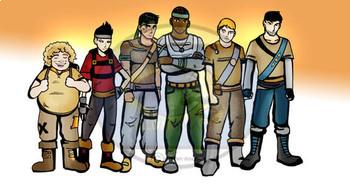 Dystopian Teens ELA Clip-Art - 22 Pieces BW and Color!