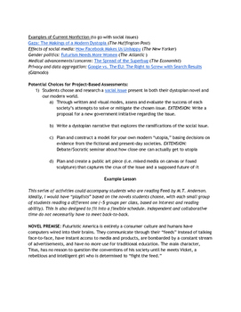 Dystopian Young Adult Literature Blended Learning Unit Sample