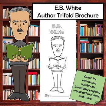 E.B. White Biography Trifold Brochure