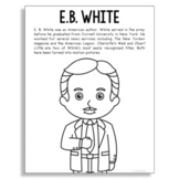 E.B. White, Famous Author Informational Text Coloring Page
