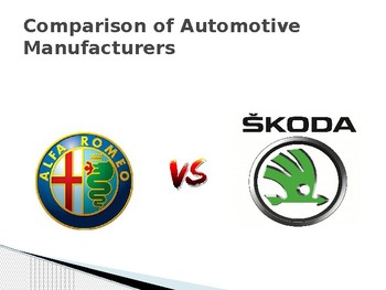 E-Business - Website Comparison of Auto Manufacturers