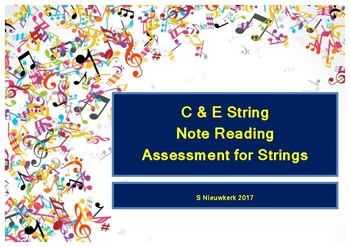 E & C String Note Reading Assessment