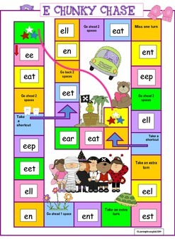 WORD CHUNK E BOARD GAME (WORD FAMILIES)