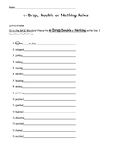 E-Drop, Double or Nothing Worksheet